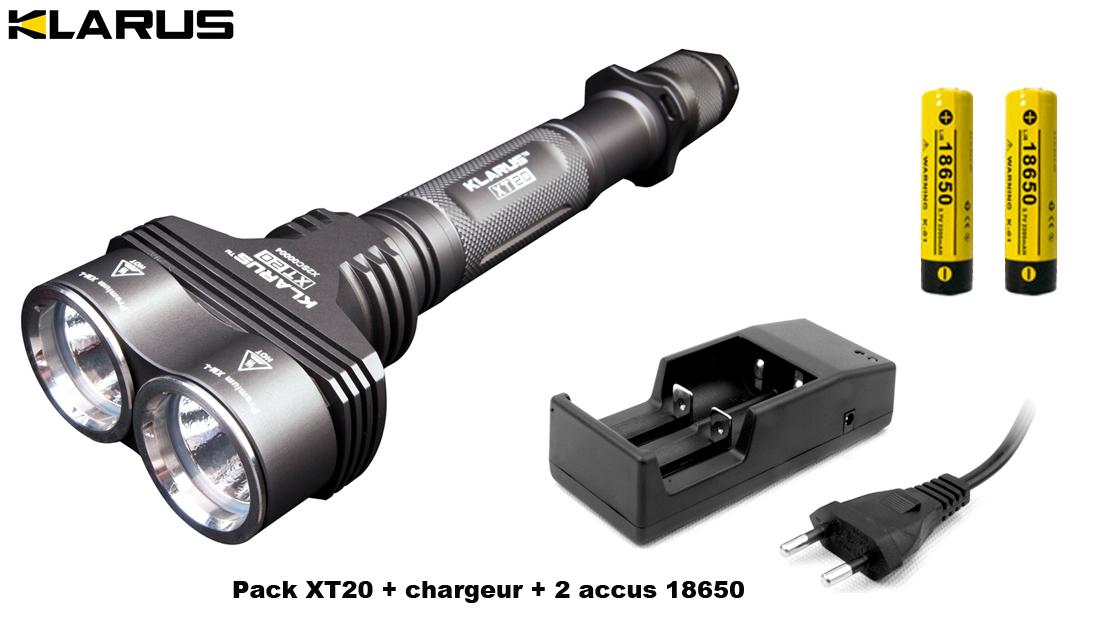 Lampe torche klarus xt20 1550lumens phare lampe de - Lampe torche tactique ...