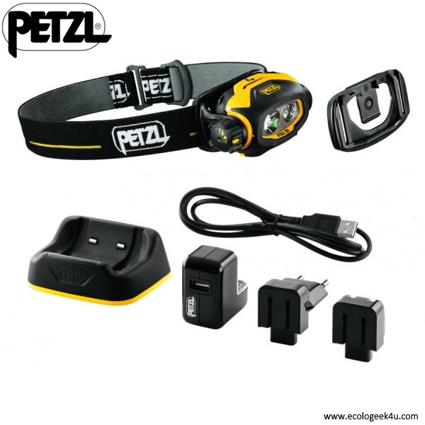 lampe frontale petzl pixa 3r atex rechargeable et parametrable lampe frontale professionnelle. Black Bedroom Furniture Sets. Home Design Ideas