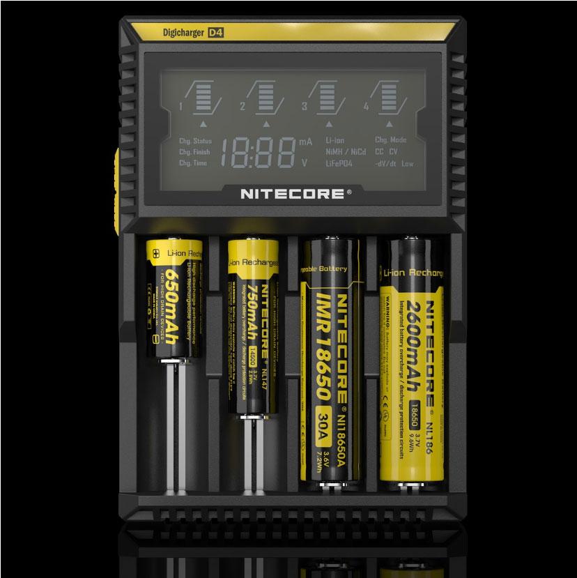 chargeur d4 nitecore affichage num rique batteries li ion imr ni mh lifepo4 ni cd. Black Bedroom Furniture Sets. Home Design Ideas