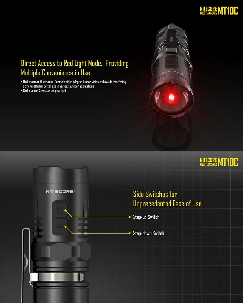 Lampe torche nitecore mt10c 920lumens ultra puissante - Lampe torche ultra puissante ...