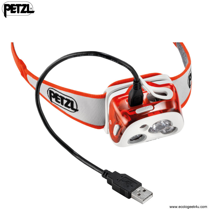 petzl reactik 300lumens le frontale rechargeable bluetooth reactive lighting pour le sport