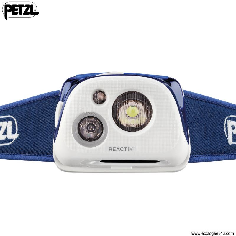 petzl reactik 190lumens lampe frontale rechargeable reactive lighting pour le sport vtt ski. Black Bedroom Furniture Sets. Home Design Ideas