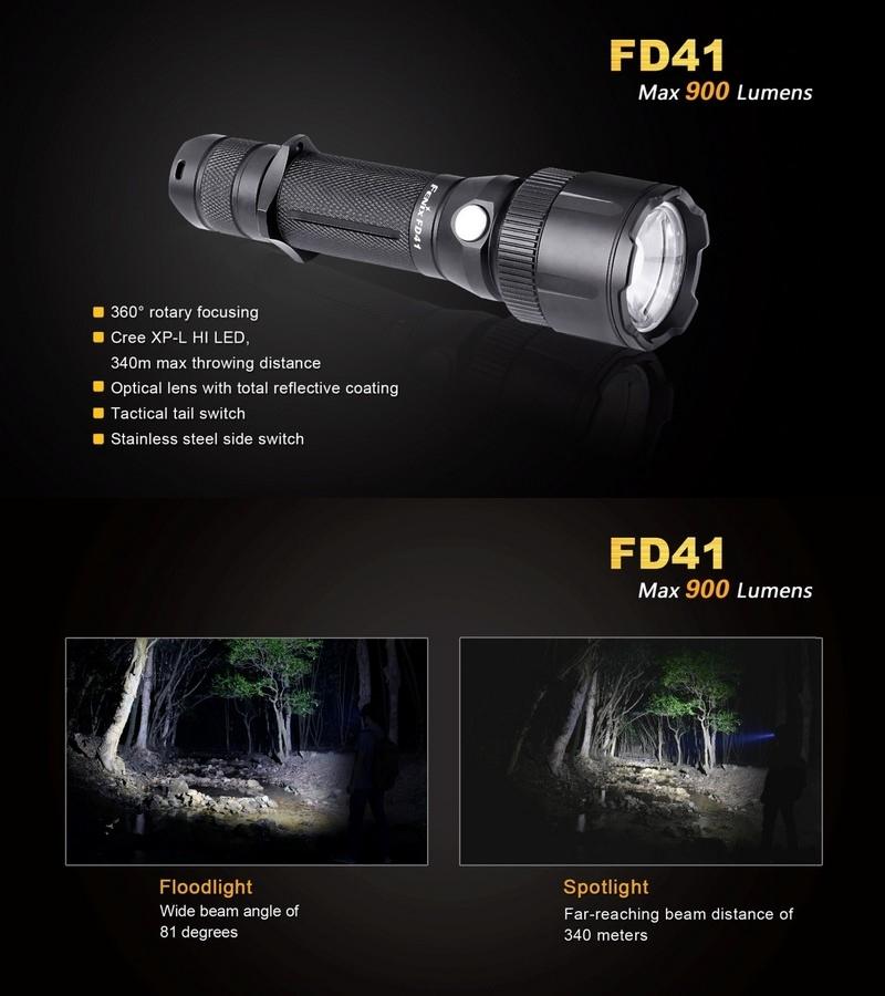 Lampe fenix fd41 900lumens focusable zoom int gr faisceau - Lampe torche ultra puissante ...