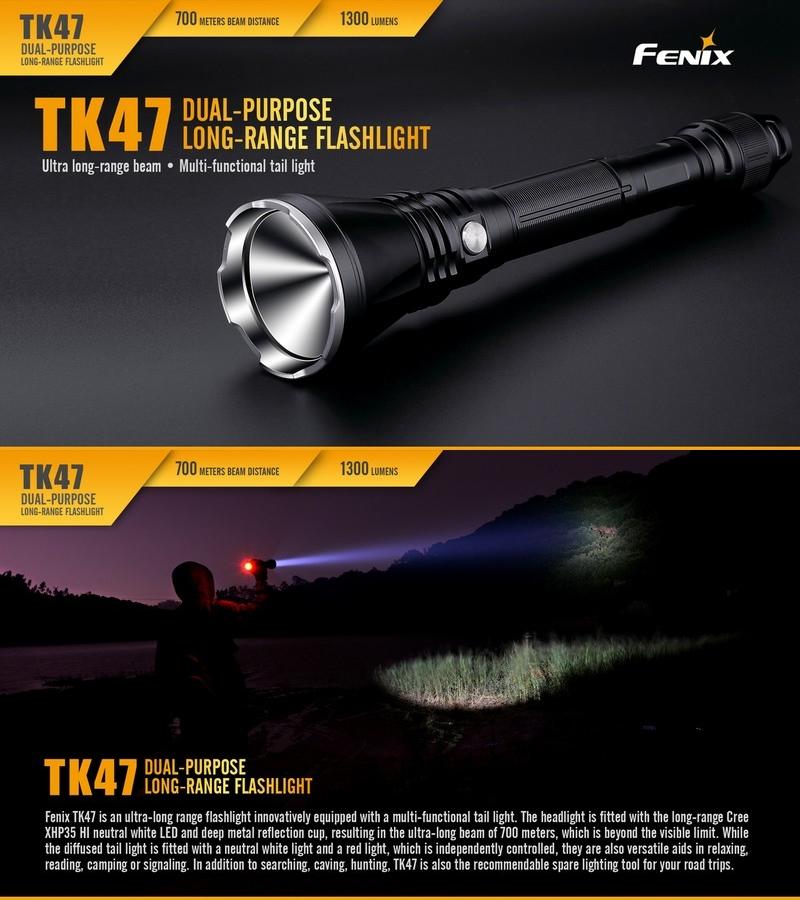 Lampe torche fenix tk47 1300lumens lampe tactique longue - Lampe torche puissante longue portee ...