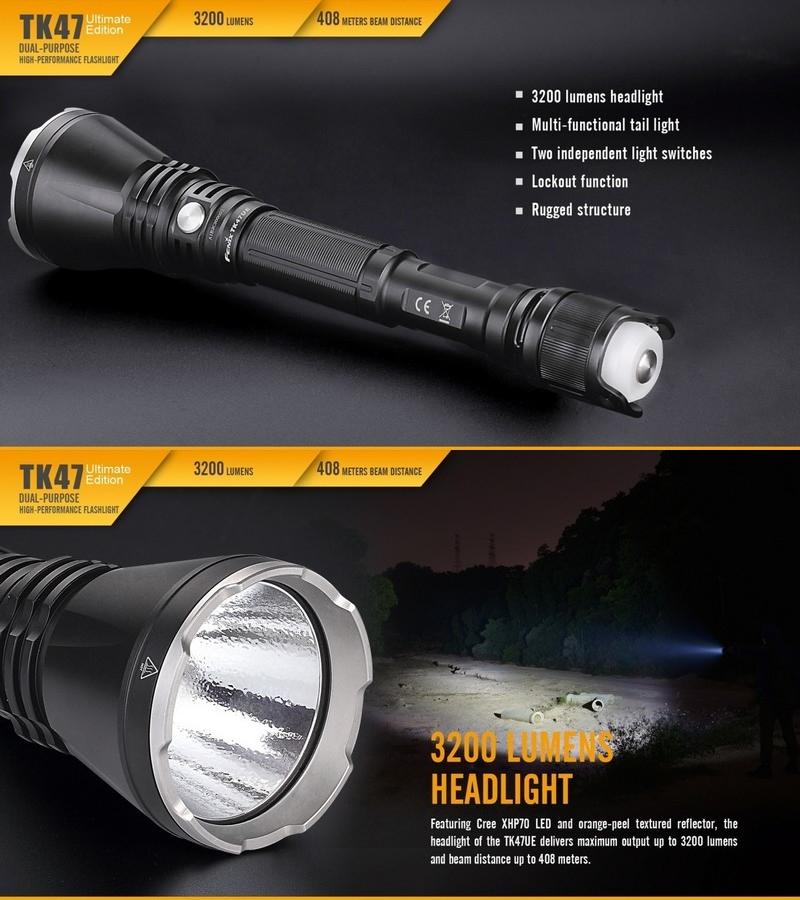 lampe torche fenix tk47ue 3200lumens lampe pour agent de s curit police. Black Bedroom Furniture Sets. Home Design Ideas