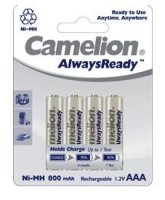 Pack de 4 piles rechargeables Camelion Ready to Use LR03 (AAA) 800 mAh