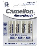 Pack de 4 piles rechargeables Camelion Ready to Use LR06 (AA) 2300 mAh