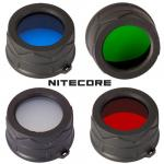 Nitecore filtres diamètre 34mm vert bleu rouge ou dépoli