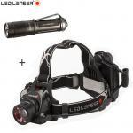 Lampe Frontale Led Lenser H14R2 1000lumens Rechargeable + Niteye JET 1 MK 480L