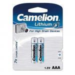 Piles Lithium Camelion LR03 (AAA) -Pack de 2 piles