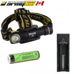 KIT TRAIL running - Lampe frontale Armytek Wizard Magnet XP-L 1120 Lumens WARM - rechargeable en USB