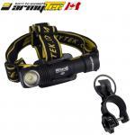 Kit lampe VTT vélo frontale Armytek Wizard Magnet XP-L 1250 Lumens rechargeable USB