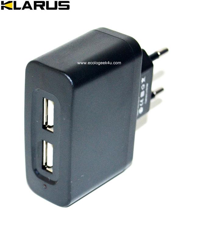 Chargeur secteur 220v avec deux sorties USB pour lampe Led Lenser ...