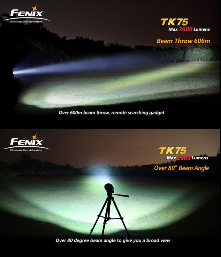 Lampe torche fenix tk75 4000 lumens design de maison - Lampe torche puissante longue portee ...
