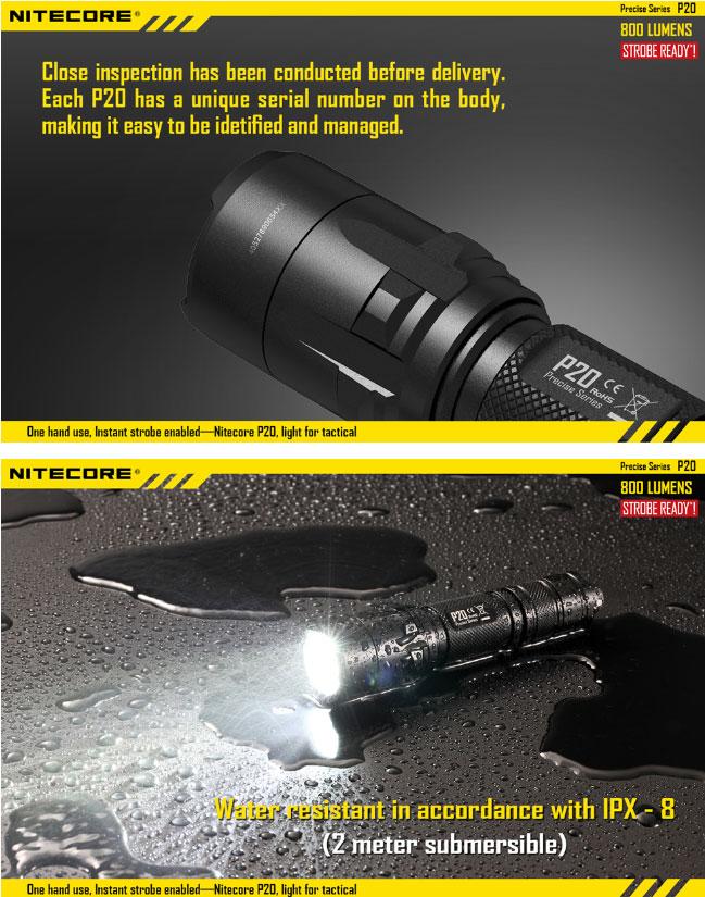 Lampe torche nitecore p20 800lumens acc s direct au - Lampe torche tactique ...