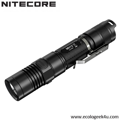 Lampe Torche Nitecore MH12 rechargeable - 1000Lumens