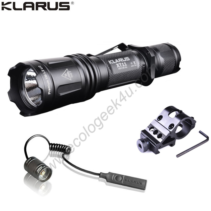 lampe torche led klarus xt11 1060lumens lampe tactique chasse kit airsoft. Black Bedroom Furniture Sets. Home Design Ideas