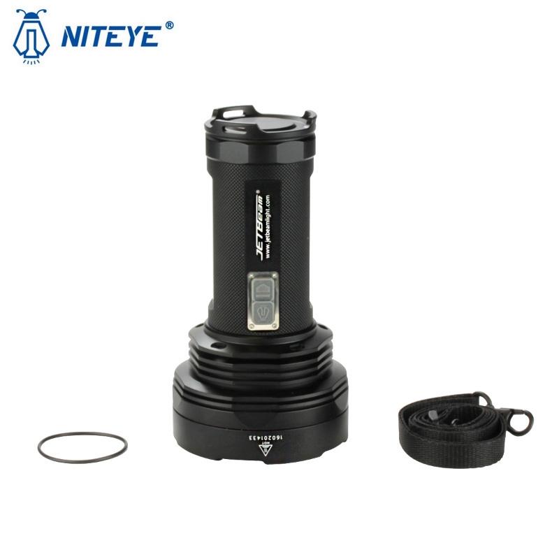 Lampe torche niteye t6 de jetbeam 4350lumens phare projecteur longue port e ultra puissant - Lampe torche longue portee ...