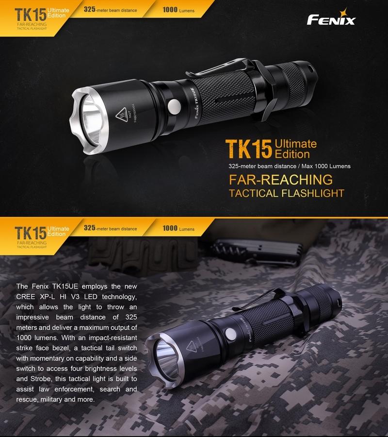 Torche 1000lumens Lampe Lampe Torche Tk15ue Fenix Tk15ue Fenix 0OPN8wnkZX