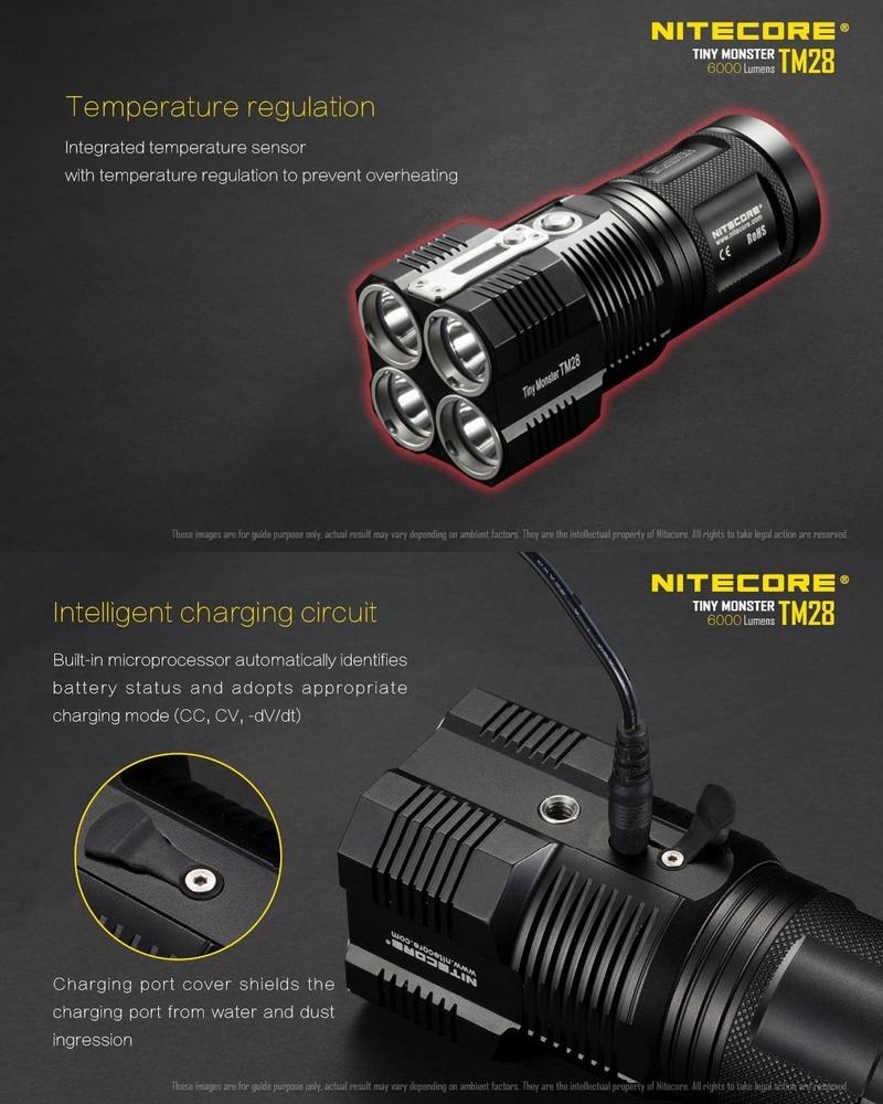 Lampe torche nitecore tm28 6000lumens rechargeable ultra - Lampe torche ultra puissante ...