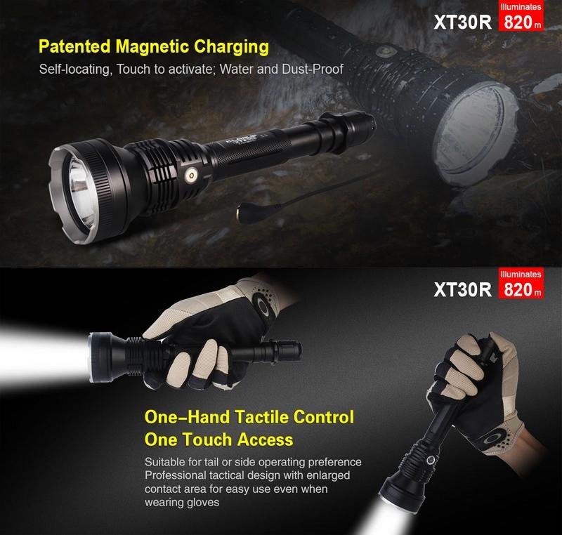 torche klarus xt30r 1800lumens lampe tactique rechargeable ultra puissante longue port e. Black Bedroom Furniture Sets. Home Design Ideas