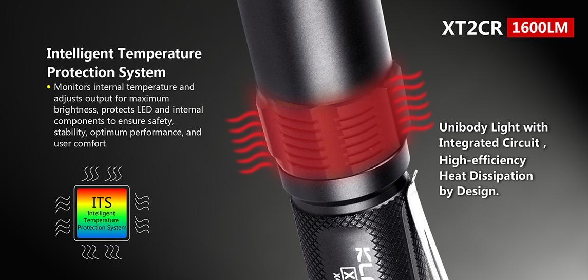 lampe torche tactique klarus xt2cr 1600lumens rechargeable. Black Bedroom Furniture Sets. Home Design Ideas