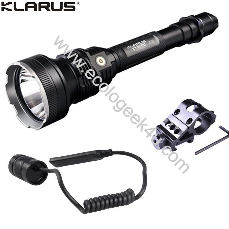 Lampe torche tactique klarus xt30r kit airsoft 1800lumens - Lampe torche longue portee rechargeable ...