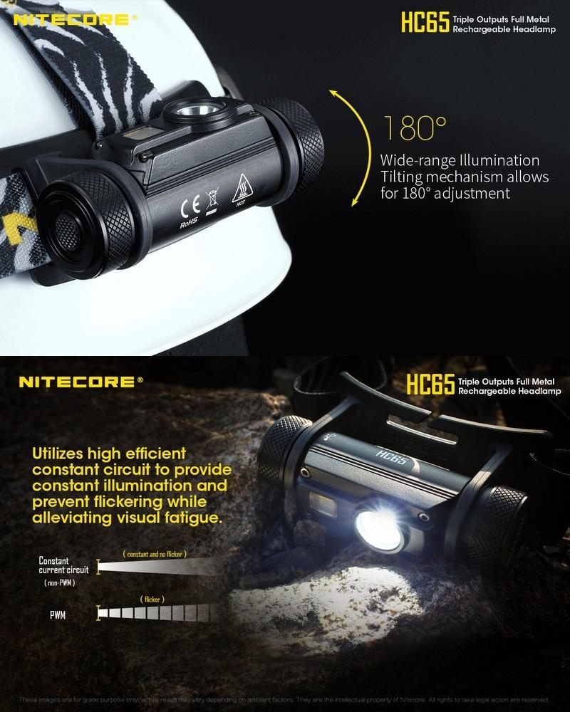 nitecore hc65 lampe frontale rechargeable 1000lumens. Black Bedroom Furniture Sets. Home Design Ideas