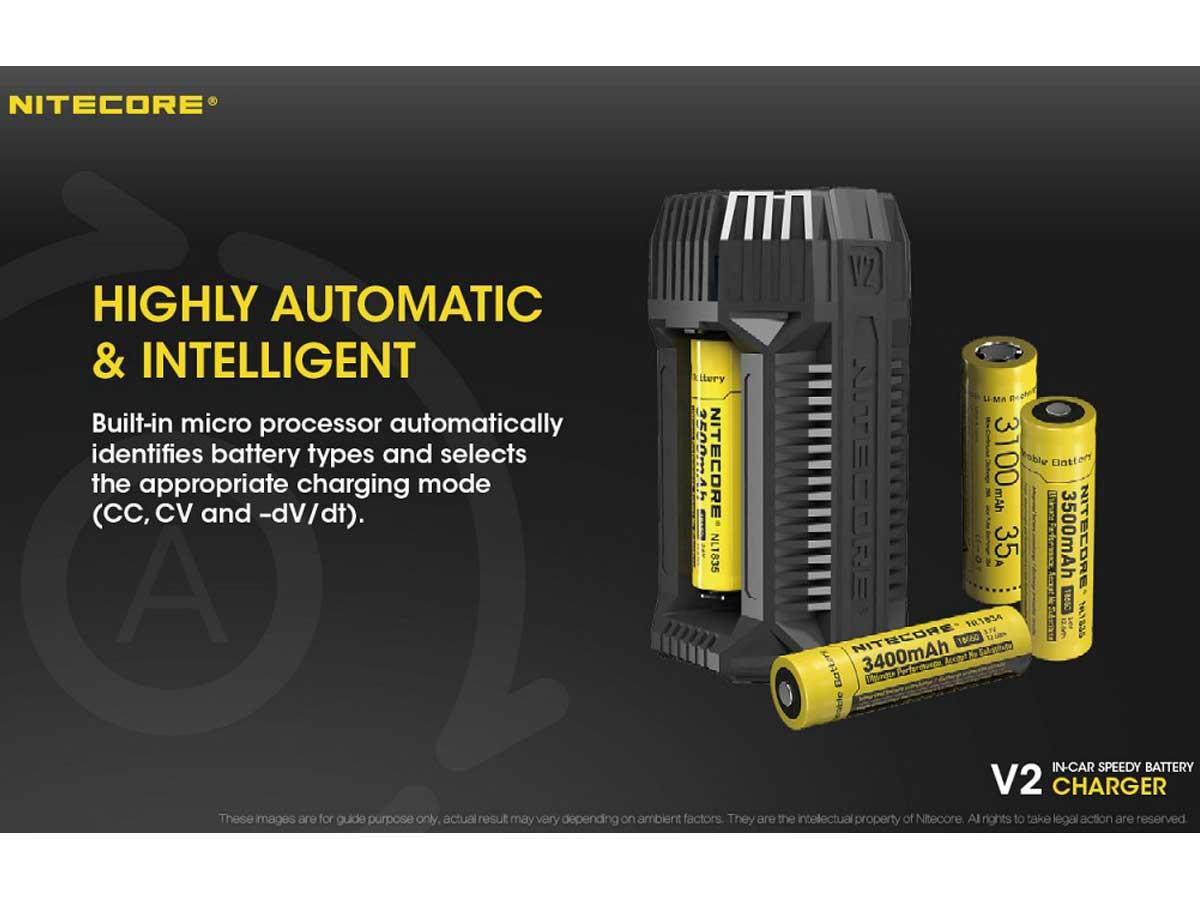 nitecore v2 chargeur de voiture pour batteries et accus li ion imr. Black Bedroom Furniture Sets. Home Design Ideas