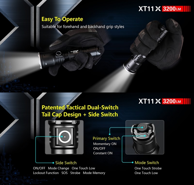 3200lumens Airsoft Tactique Torche Xt11x Klarus Lampe Kit zVSMUp