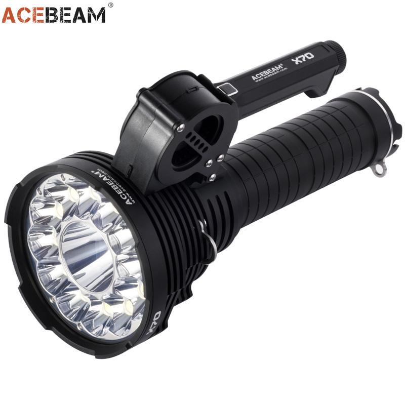 Lampe torche acebeam x70 60 000 lumens projecteur tr s longue port e ultra puissante - Lampe torche puissante longue portee ...