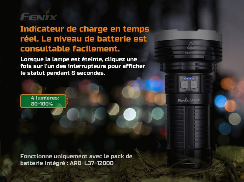 Lampe Torche Fenix LR40R 12 000Lumens, ultra puissante