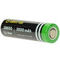 Batterie ARMYTEK 18650 - 3500mAh 3.7V  Non protégée Li-ion