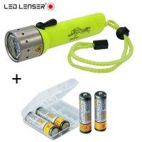 Lampe de plongée Led Lenser D14 + 4 accus 2700mAh Camélion