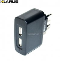 Chargeur secteur  Klarus 220V avec 2 sorties USB
