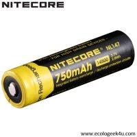 Batterie Nitecore NL147 14500 - 850mAh 3.7V protégée Li-ion