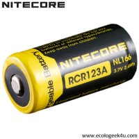 Batterie Nitecore NL166 16340 - 650mAh 3.7V protégée Li-ion