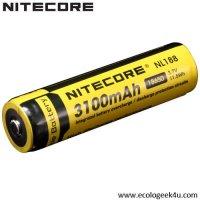 Batterie Nitecore NL1832 18650 - 3200mAh 3.7V protégée Li-ion