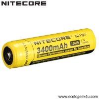 Batterie Nitecore NL1834 18650 - 3400mAh 3.7V protégée Li-ion