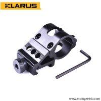 Support arme ALU Klarus MGM3 déporté -  1 pouce, pour lampe de diamètre 25 à 27.5mm
