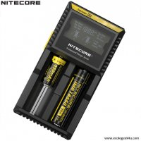 Digichargeur D2 Nitecore Li-ion, IMR, Ni-MH, LiFePO4 et Ni-CD