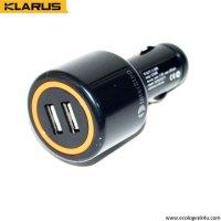 Adaptateur double USB pour allume-cigare 12V et 24V