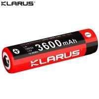 Batterie Klarus 18650 - 3600mAh 3.7V protégée LiR