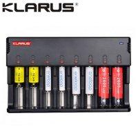 Chargeur Klarus C8 pour Batteries Li-ion, Ni-MH, Ni-Cd avec sortie USB