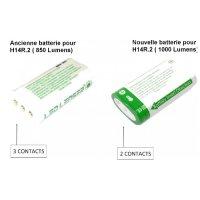 Batterie lampe frontale Led Lenser H14R.2 1000Lumens