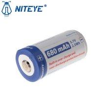 Batterie Niteye 16340 - 680mAh 3.7V protégée Li-ion