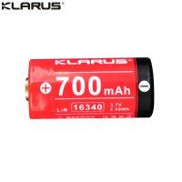 Batterie Klarus 16340 - 700mAh 3.7V protégée Li-ion