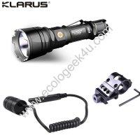 Lampe torche tactique Klarus XT12GT - Kit airsoft - 1600Lumens