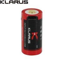 Batterie Klarus 16340UR70 - 700mAh 3.7V protégée Li-ion, rechargeable en USB