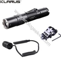 Lampe torche tactique Klarus XT2CR Kit airsoft - 1600Lumens